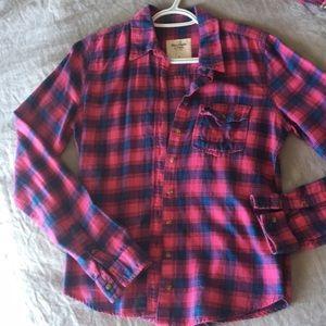 💕 Abercrombie flannel plaid shirt